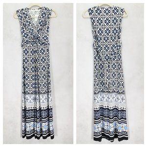 NWT Eliza J 0 Sleeveless Maxi Dress Twist Front